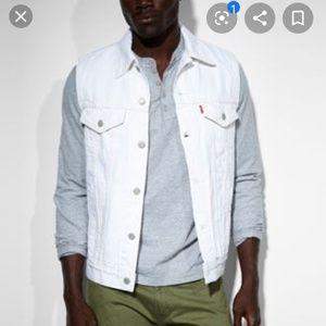 Levi's white denim vest